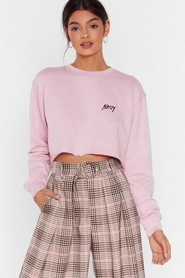 Rose Branded Nasty Cropped Sweat