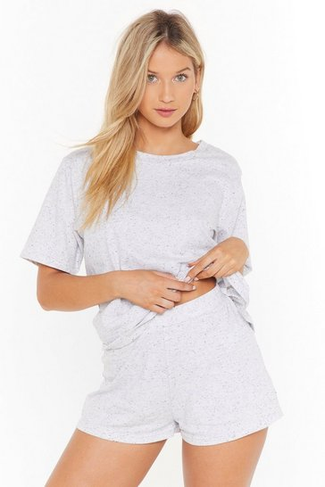 Womens Grey marl Waitin' on the Weekend Pajama Shorts