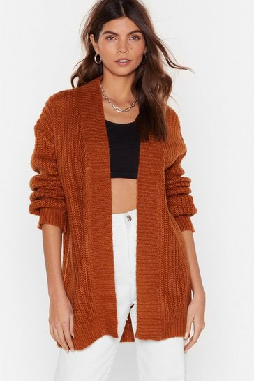 Rust Tell Knit Like Knit It is Cardigan