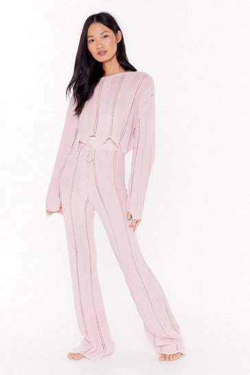Womens Mink At A Ladder Date Sweater & Pant Lounge Set