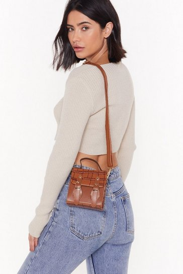 Womens Brown WANT Lil Bag Crossbody Satchel Bag