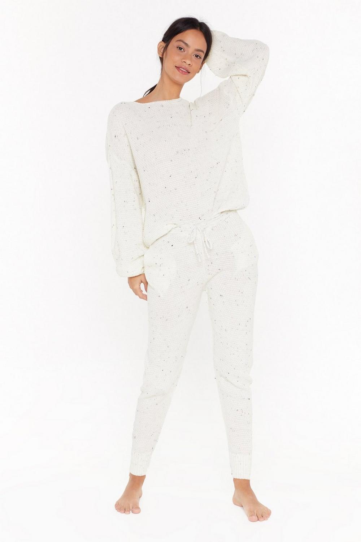 Fleck Balloon Sleeve Sweater &Amp; Jogger Set by Nasty Gal