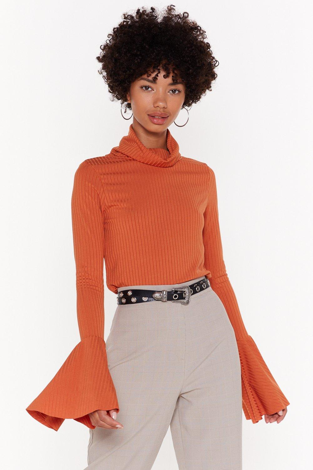 Flare's Nothin' Holdin Me Back Ribbed Sweater by Nasty Gal