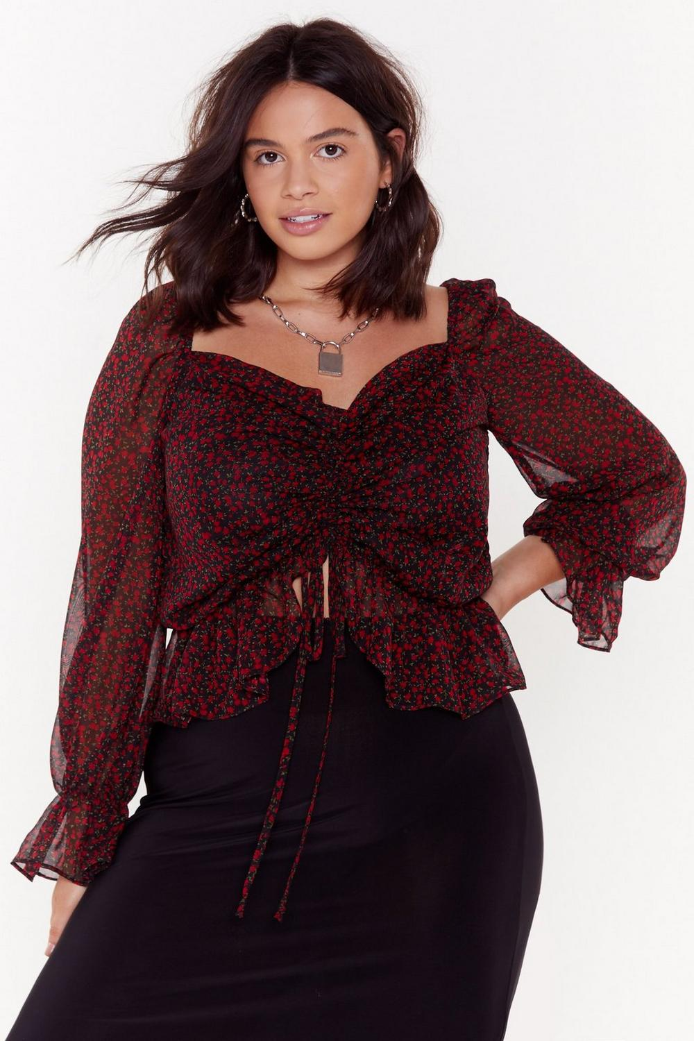 A Rose Between Plus Floral Blouse by Nasty Gal