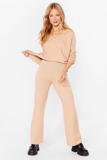 Sand Two For the Road Knit Sweater and Pants Set