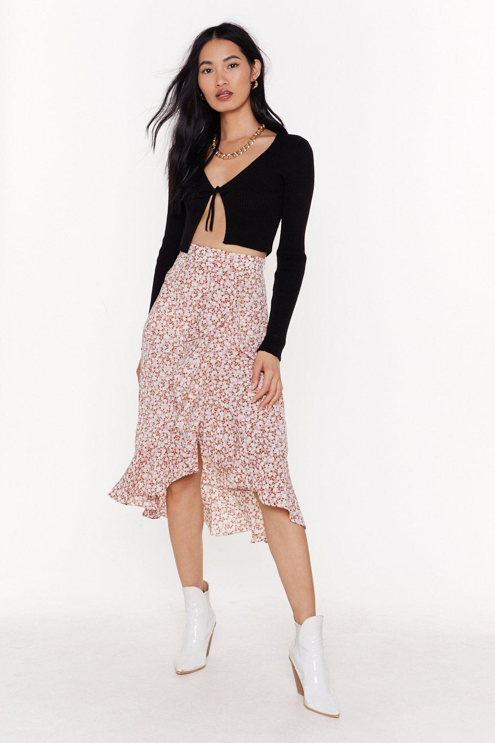 Grow Old With Me Floral Midi Skirt by Nasty Gal