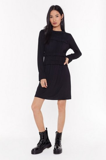 Black Tier's What's Gonna Happen Ruffle Mini Dress