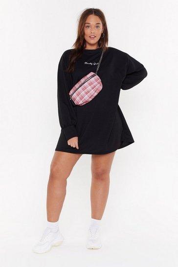 Black Nasty Gals Plus Sweatshirt Dress