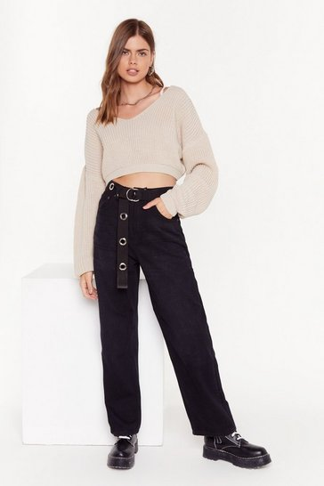 Womens Black The Search is Oversized Denim Jeans