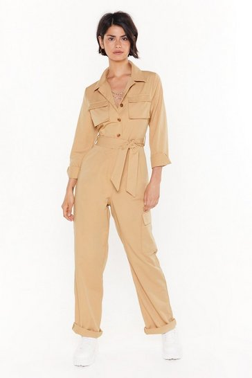 Womens Stone We've Reached Boiling Point Belted Boilersuit