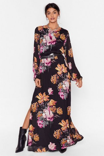 Black Open Back Cowl Midi  Tea Dress