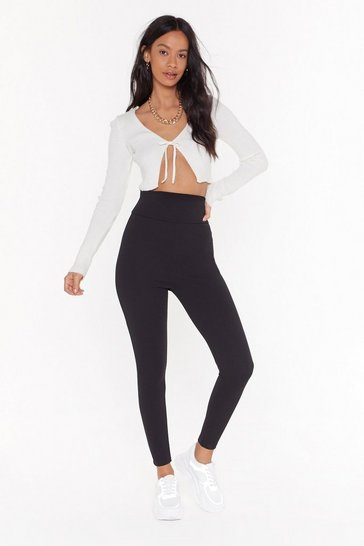 Womens Black High and Seek High-Waisted Leggings