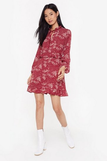 Womens Red The Frill of the Impossible Floral Mini Dress