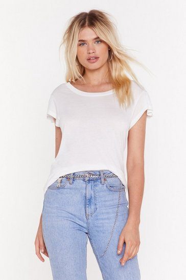 Womens Cream Rest My Case Oversized Tee