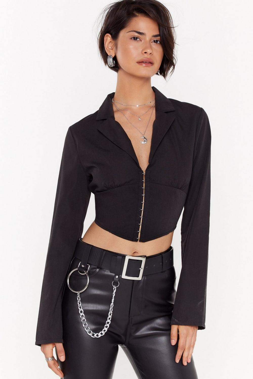 Corset Detail Shirt by Nasty Gal