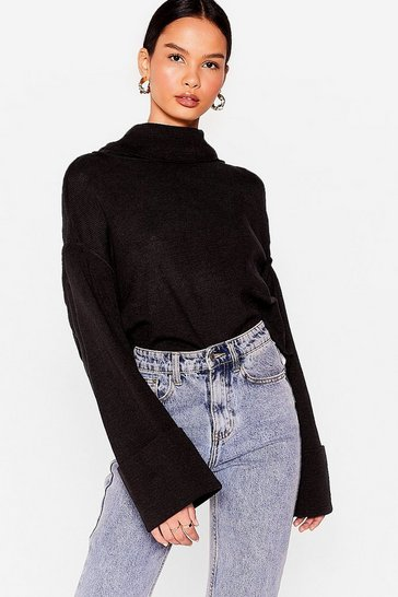 Black Sleeve Found Love Turtleneck Sweater