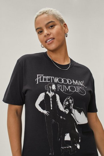 Black Fleetwood Mac Plus Graphic Band  Tee