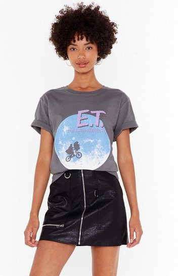 Dark grey E.T the Extra-Terrestrial Graphic Tee