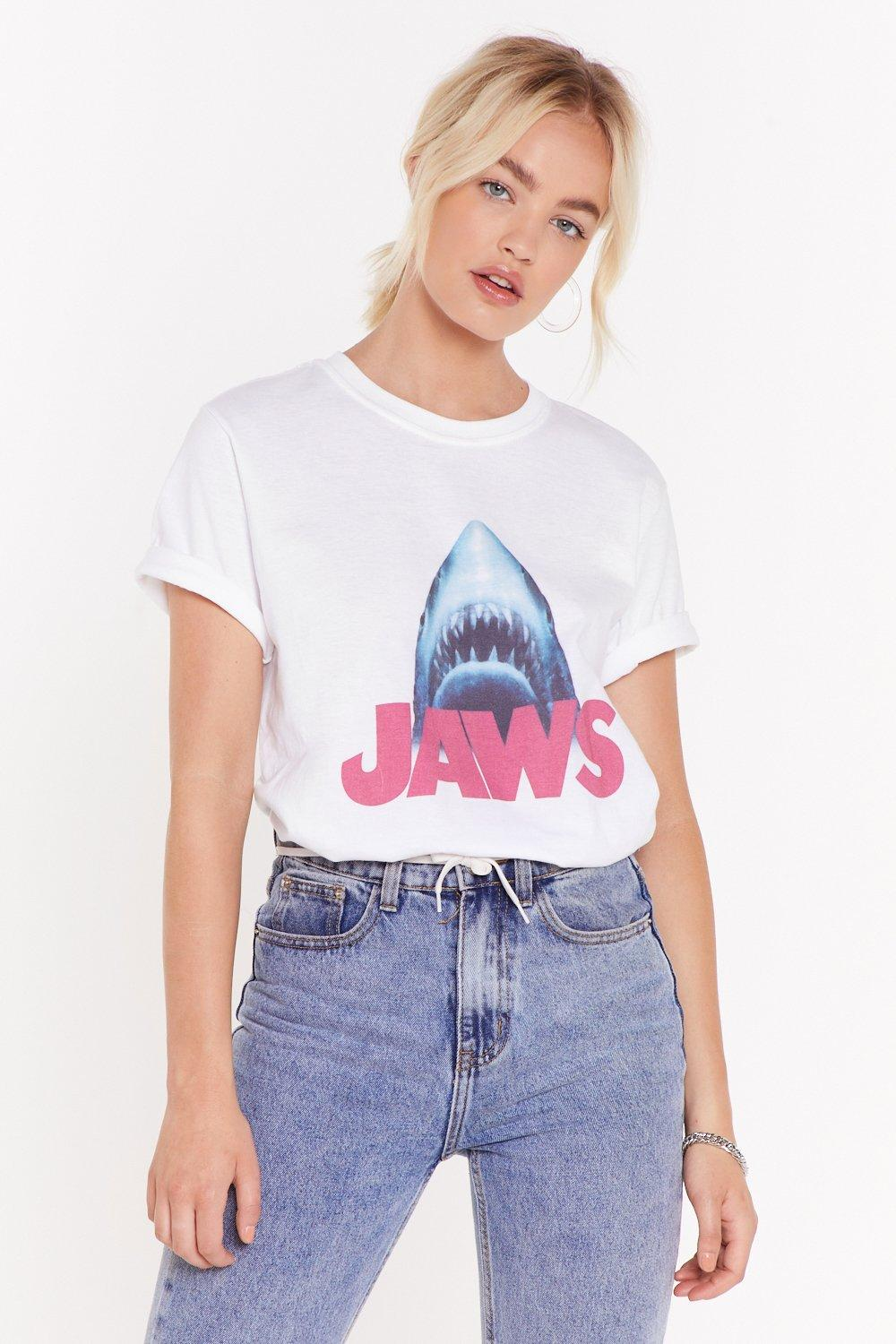 Jaws Centre Graphic Tee by Nasty Gal