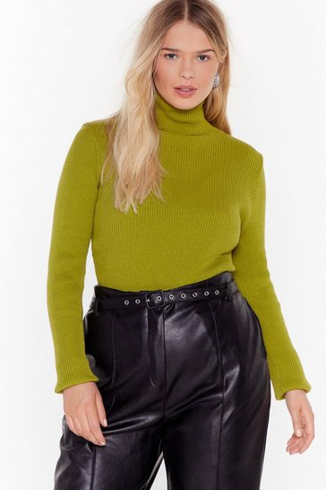 Womens Forest Turn Knit Up Plus Turtleneck Jumper