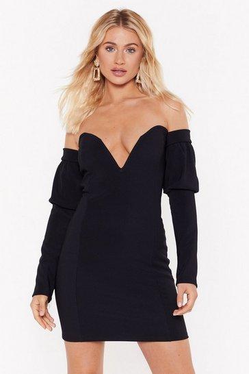 Black V All and End All Sweetheart Mini Dress