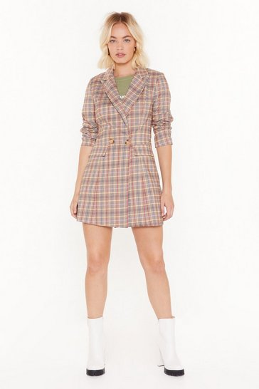 Womens Lemon Give 'Em a Reality Check  Blazer Dress