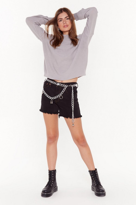 Nasty Gal Vintage Rise Above Them Longline Denim Shorts by Nasty Gal
