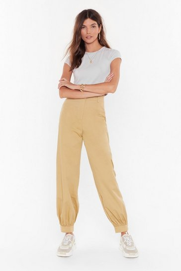 Womens Sand Come Say High-Waisted Utility Pants