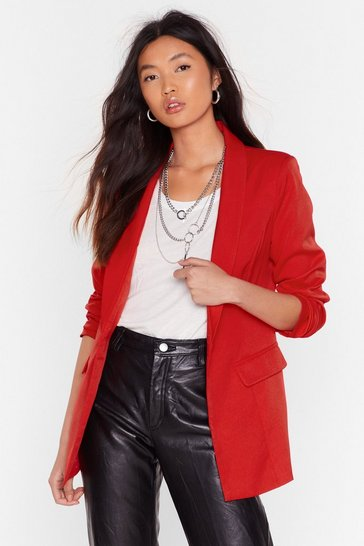 Womens Red You Two Really Suit Tailored Blazer