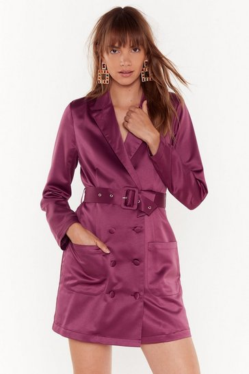 Womens Lavender Such a Hell Blazer Dress