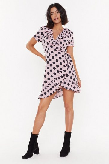 Rose Nothing's Gonna Spot Us Now Wrap Mini Dress