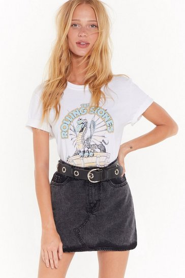 Womens Black Wash What Happens Next Denim Mini Skirt