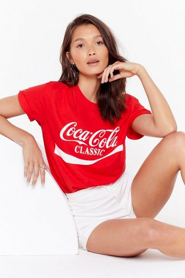 Womens Red Coca-Cola Classic Graphic Tee