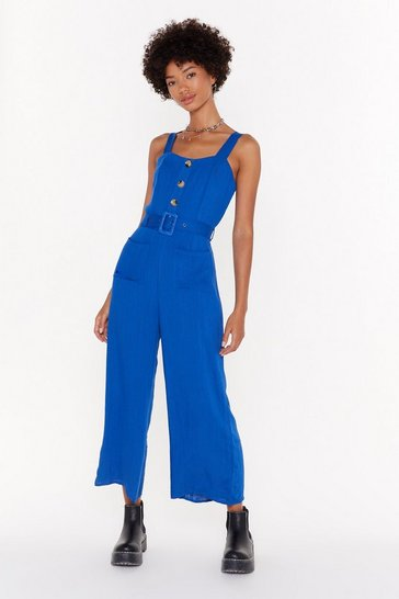 Denim-blue Let's Keep This Casual Jumpsuit