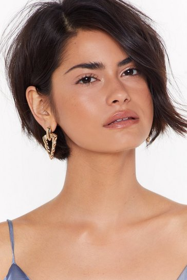 Womens Gold Workin' Those Tri-Angles Drop Earrings