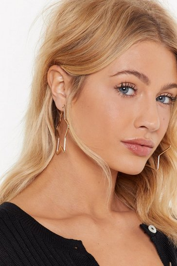 Gold You've Got the Starring Role Hoop Earrings