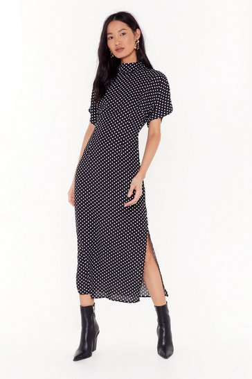 Womens Black Spot I Need Midi Dress