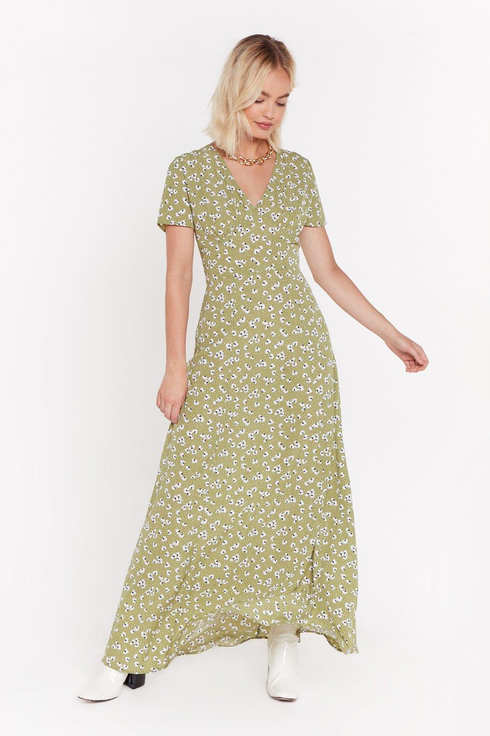 Plant Stop This Feeling Floral Maxi Dress by Nasty Gal