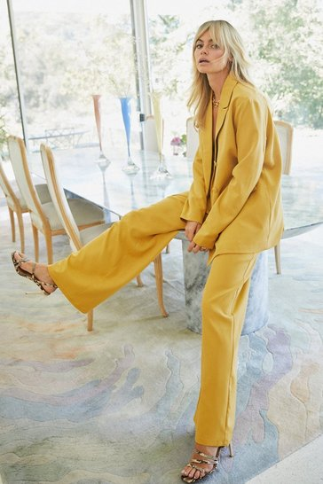 Mustard Suits You Wide-Leg Pants