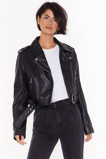 Black Leather Have I Ever Leather Biker Jacket