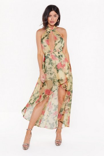 Cream You Grow Girl Floral Midi Dress