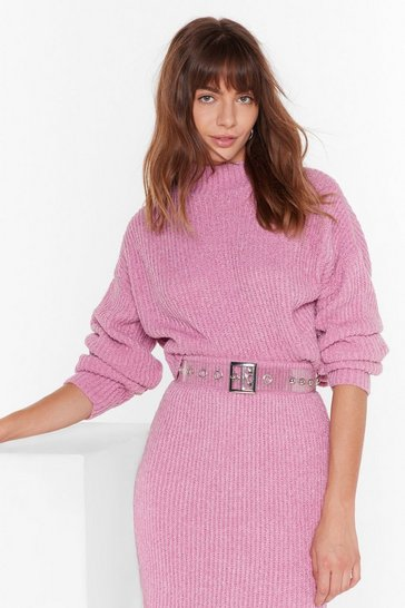 Rose Ain't No Doubt About Knit High Neck Sweater