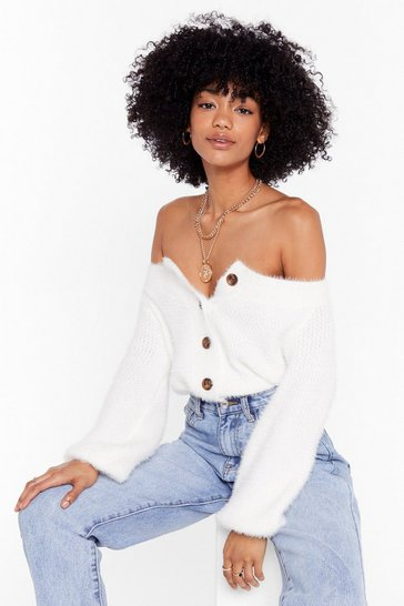 Cream Knit's Your Thing V-Neck Cardigan