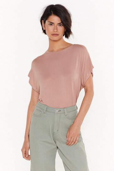 Womens Rose Laid Back Oversized Tank Tee