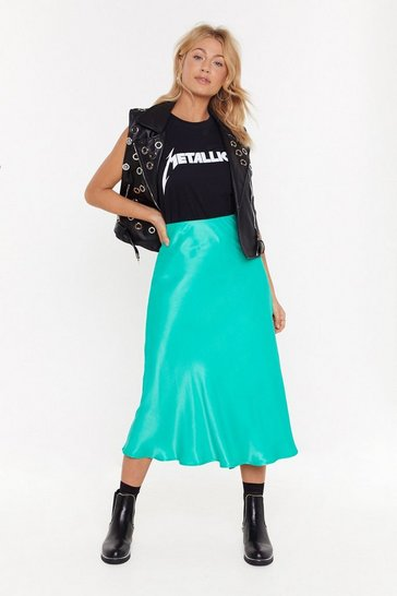 Womens Jade Sleek Havoc Bias Cut Satin Skirt
