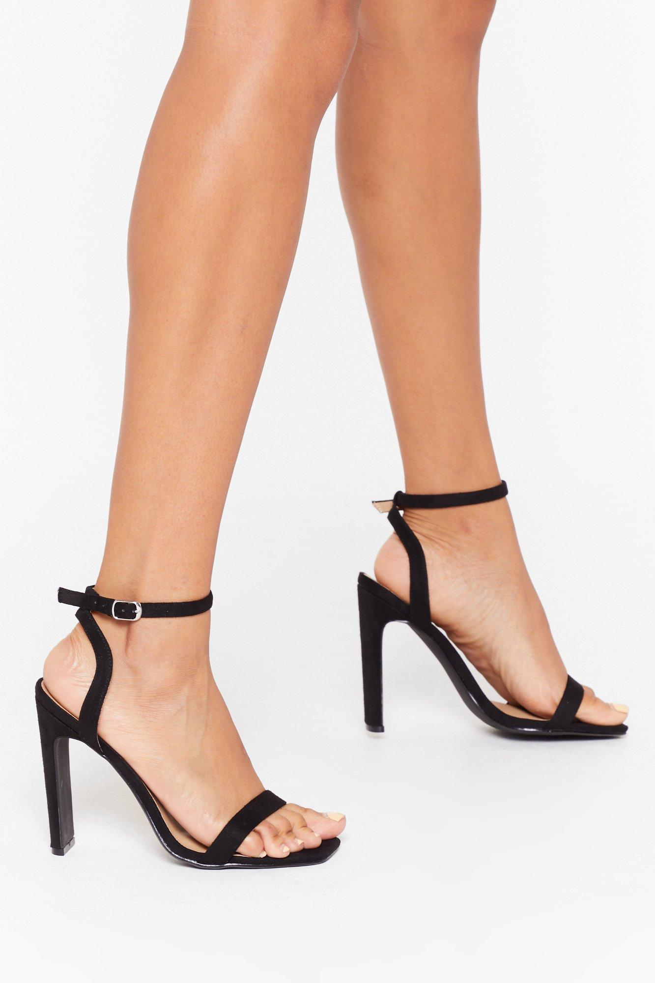 Heel It in the Air Faux Suede Strappy Heels | Nasty Gal