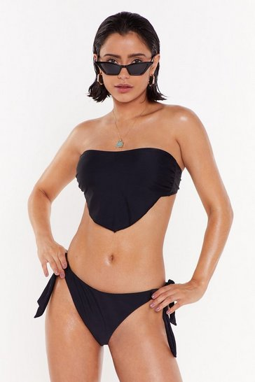 Womens Black Meet Me at the Ca-bandana Bikini Set