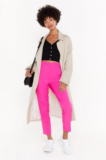 Womens Pink Who Wears the High-Waisted Tapered Pants