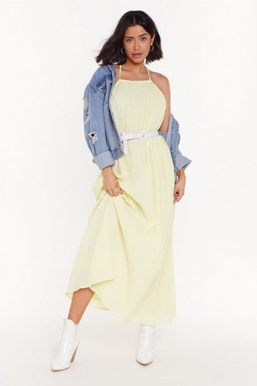 Womens Lemon Nothing Holdin' Me Back Strappy Maxi Dress