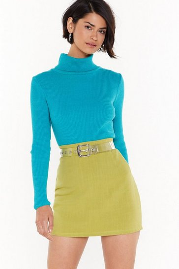 Womens Lime Is It My A-Line Plus Mini Skirt